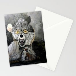 Wolf Play Stationery Cards