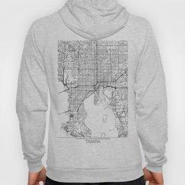 Tampa Map White Hoody