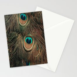 Peacock feathers abstract II Stationery Cards