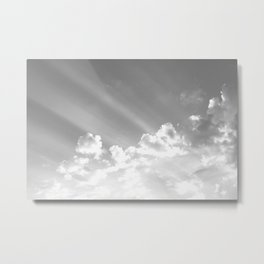Cotton clouds and sunrays Metal Print