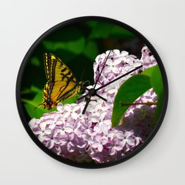 Pollination - Series; 1 of 3 Wall Clock