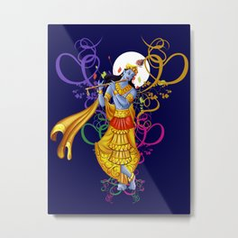 Divine Music with Krishna Metal Print