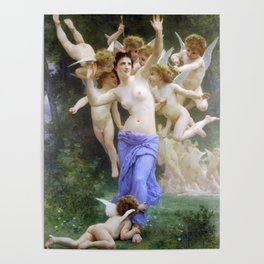 The Invasion (The Wasp's Nest) Le Guêpier by William-Adolphe Bouguereau Poster