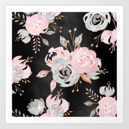Night Roses 2 Art Print