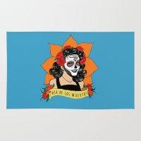 dia de los muertos Area & Throw Rugs featuring Dia de los Muertos by Karen Vaughan