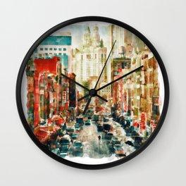 Winter in Chinatown - New York Wall Clock