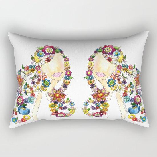 Flower Girl One Rectangular Pillow