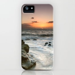 Sunset Over the Rocks iPhone Case