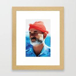 Captain Steve Zissou Framed Art Print