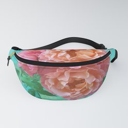Pink Rose Bouquet in a terracotta vase Fanny Pack