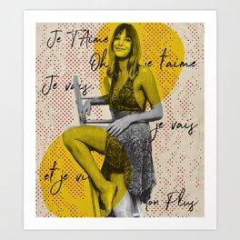 .Je T'aime. Art Print