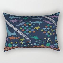 Scuba diving – Knitted ecosystem Rectangular Pillow