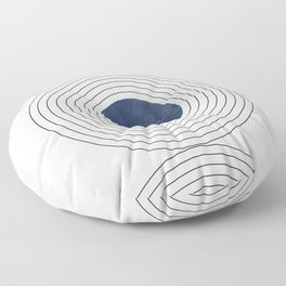 Geo Blue Balance Floor Pillow