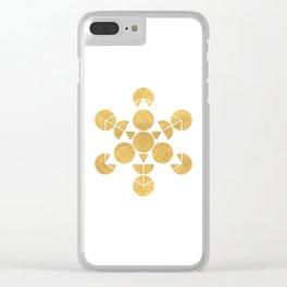 ICOSAHEDRON FRUIT OF LIFE minimal sacred geometry Clear iPhone Case
