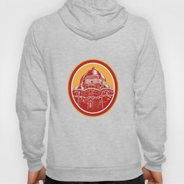 Dome of Florence Cathedral Front Woodcut Hoody