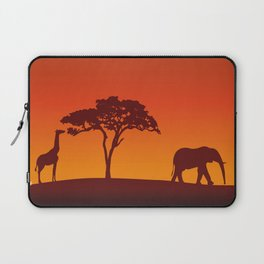 African Safari Silhouette Laptop Sleeve