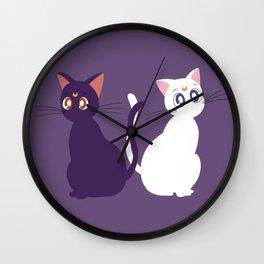 Luna & Artemis - Purple Wall Clock
