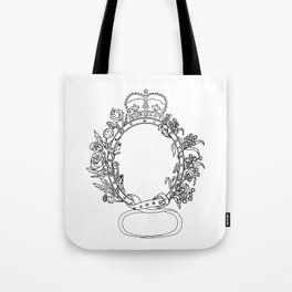 Celtic Belt With Rose and Thistle Drawing Tote Bag