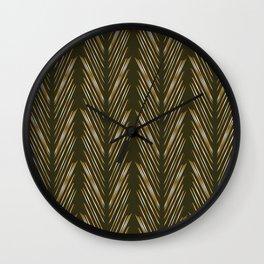 Wheat Grass Green Wall Clock