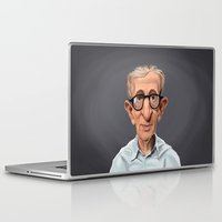 woody allen Laptop & iPad Skins featuring Celebrity Sunday ~ Woody Allen by rob art | illustration