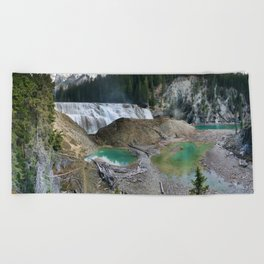 Wapta Falls - Yoho National Park 16 Picture Panorama Beach Towel