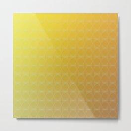 Yellow to Orange Scale Ombre Circle Gradient Metal Print