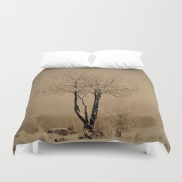 Sepia winter Duvet Cover