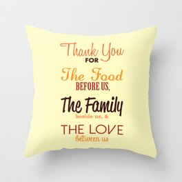 Thanksgiving Grace | Fall Colors Throw Pillow