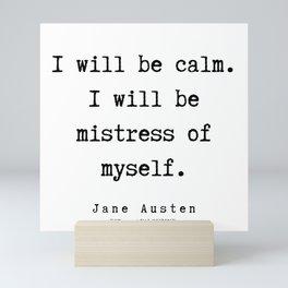 81   | Jane Austen Quotes | 190722 Mini Art Print