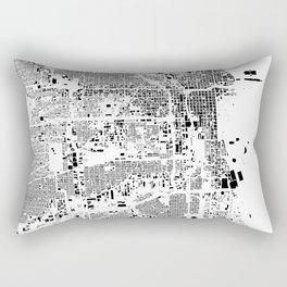 Chicago Map Schwarzplan Only Buildings Rectangular Pillow