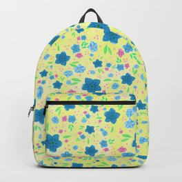 Forget Me Nots - Yellow Backpack