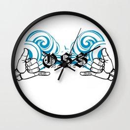 Double Shakas Wall Clock