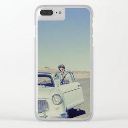 Desert Driver Clear iPhone Case