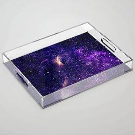 Ultra violet purple abstract galaxy Acrylic Tray