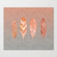 feathers Canvas Prints featuring Feathers by LebensART