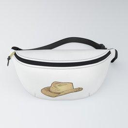 Vintage Retro Western Cowboy Hat Distressed  Fanny Pack