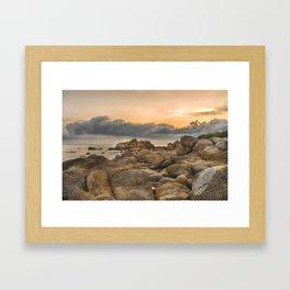 Stones, Ocean and Heaven Framed Art Print