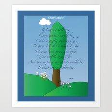 Poplar Tree Poem Art Print