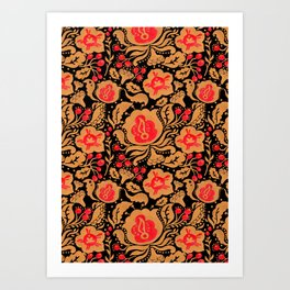 Khokhloma Kulture Pattern Art Print