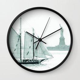 Statue of Liberty with Schooner Wall Clock