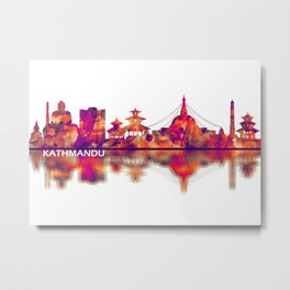 Kathmandu Nepal Skyline Metal Print