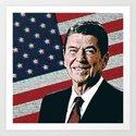 Patriotic President Reagan by politics