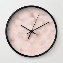 Blush pink tones rose gold abstract marble Wall Clock