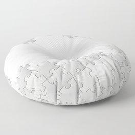 Puzzle white Floor Pillow