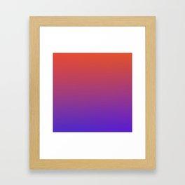 STEAM SCENE - Minimal Plain Soft Mood Color Blend Prints Framed Art Print