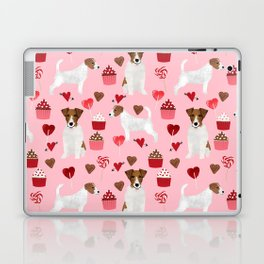 Jack Russell Terrier valentines day cupcakes and hearts love pattern gifts for dog lovers Laptop & iPad Skin