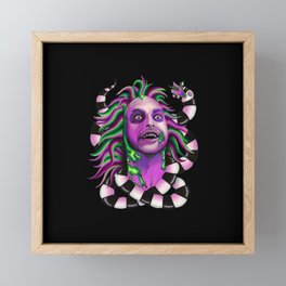 Stoned & Unusual - black Framed Mini Art Print