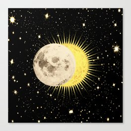 'Imminent Eclipse' Sun Moon & Stars Canvas Print