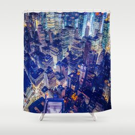 New York city night color Shower Curtain