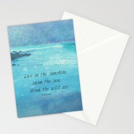 Sunshine quote sea Emerson inspirational Stationery Cards